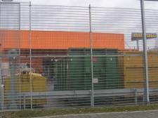 """ogrodzenie panelowe (""""OBI"""" Gorzów Wielkopolski, Lubin)"""