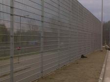 """ogrodzenie panelowe systemowe (""""MediaMarkt"""" Gorzów Wielkopolski)"""