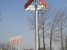 "konstrukcja pylonu (""OBI"" Katowice)"